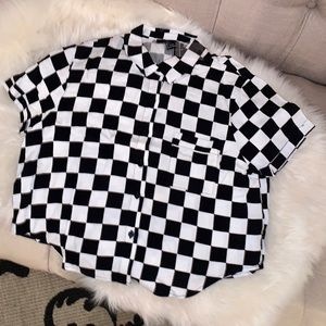 ❤️ Forever 21 Checkered short sleeve top